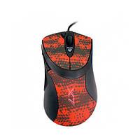 Мишка USB ігрова A4Tech F7 USB Black Red