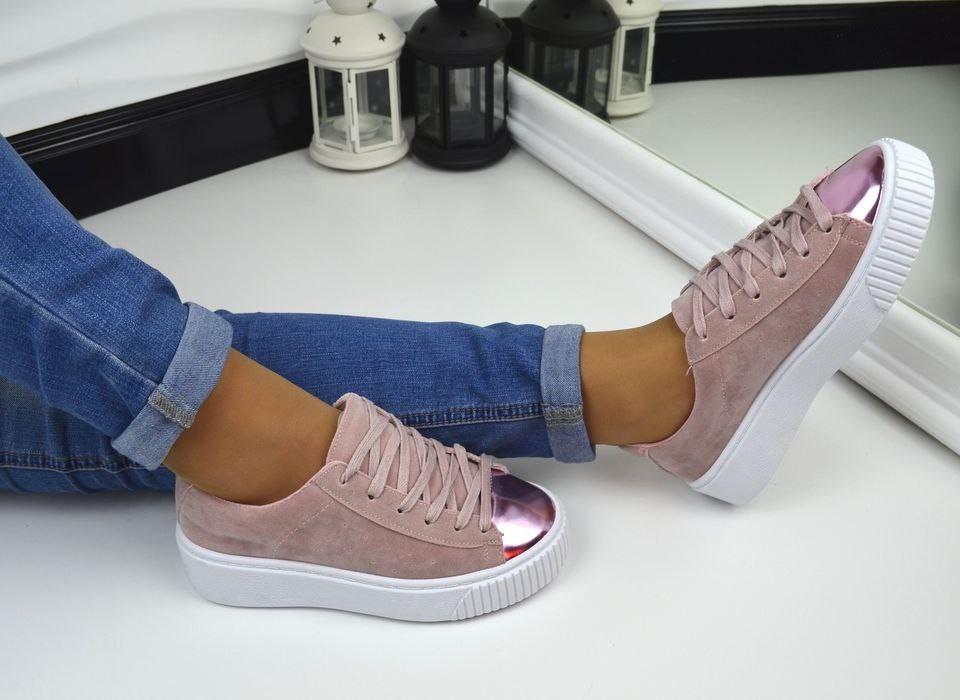 Кроссовки криперы копия PUMA By Rihanna CREEPER pink - IQueen - интернет- магазин женской обуви c40894917b7