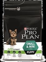 Pro Plan Puppy Small & Mini корм для щенков мелких пород с курицей, 3 кг, фото 1