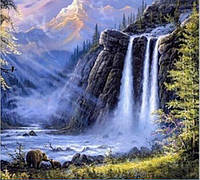 Водопад лесной (полная выкладка) 15*20