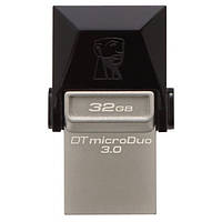 Флеш пам'ять 32GB USB3.0 + microUSB OTG Kingston DataTraveler microDuo 32GB Black