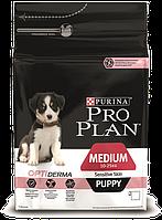 Pro Plan Puppy Medium Sensitive корм для щенков средних пород с чувствительной кожей, с лососем, 12 кг, фото 1