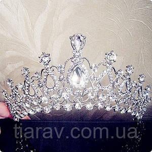 Свадебная диадема тиара Арвен корона на голову украшения для волос аксессуары свадебные