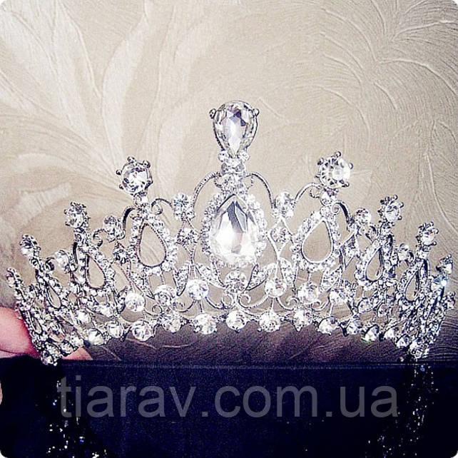 Свадебная диадема тиара Арвен корона на голову красивая