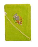 Детское полотенце с капюшоном Safari Tega Baby, зеленое