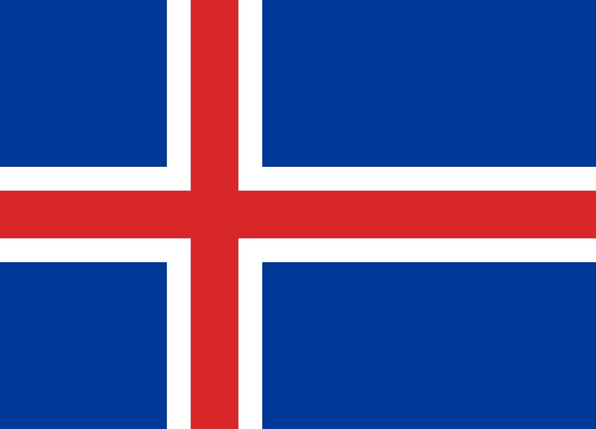 Национальный флаг Исландии 90х150см