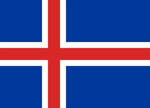 Национальный флаг Исландии 90х150см, фото 2