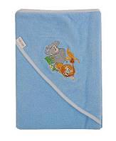 Детское полотенце с капюшоном Safari Tega Baby, голубое