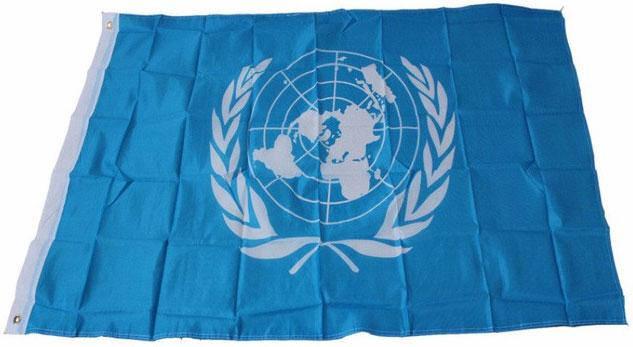 Официальный флаг ООН 90х150см, фото 2