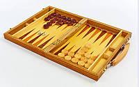 Настольная игра нарды 9911 в деревянном кейсе: дерево, размер доски 28х40см