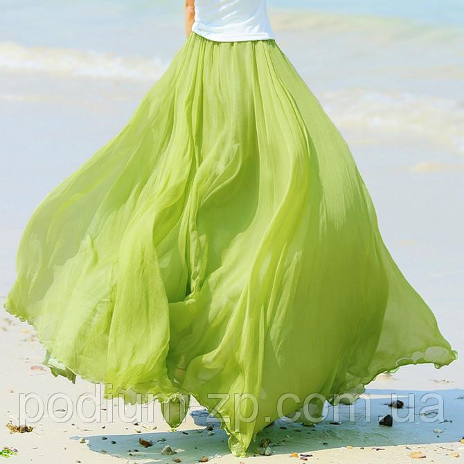 Длинная шифоновая юбка