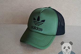 Спортивная кепка Adidas, Адидас, тракер, летняя кепка, унисекс, зеленого цвета (копия)