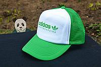 Спортивная кепка Adidas, Адидас, тракер, летняя кепка, унисекс, зеленого и белого цвета (копия)