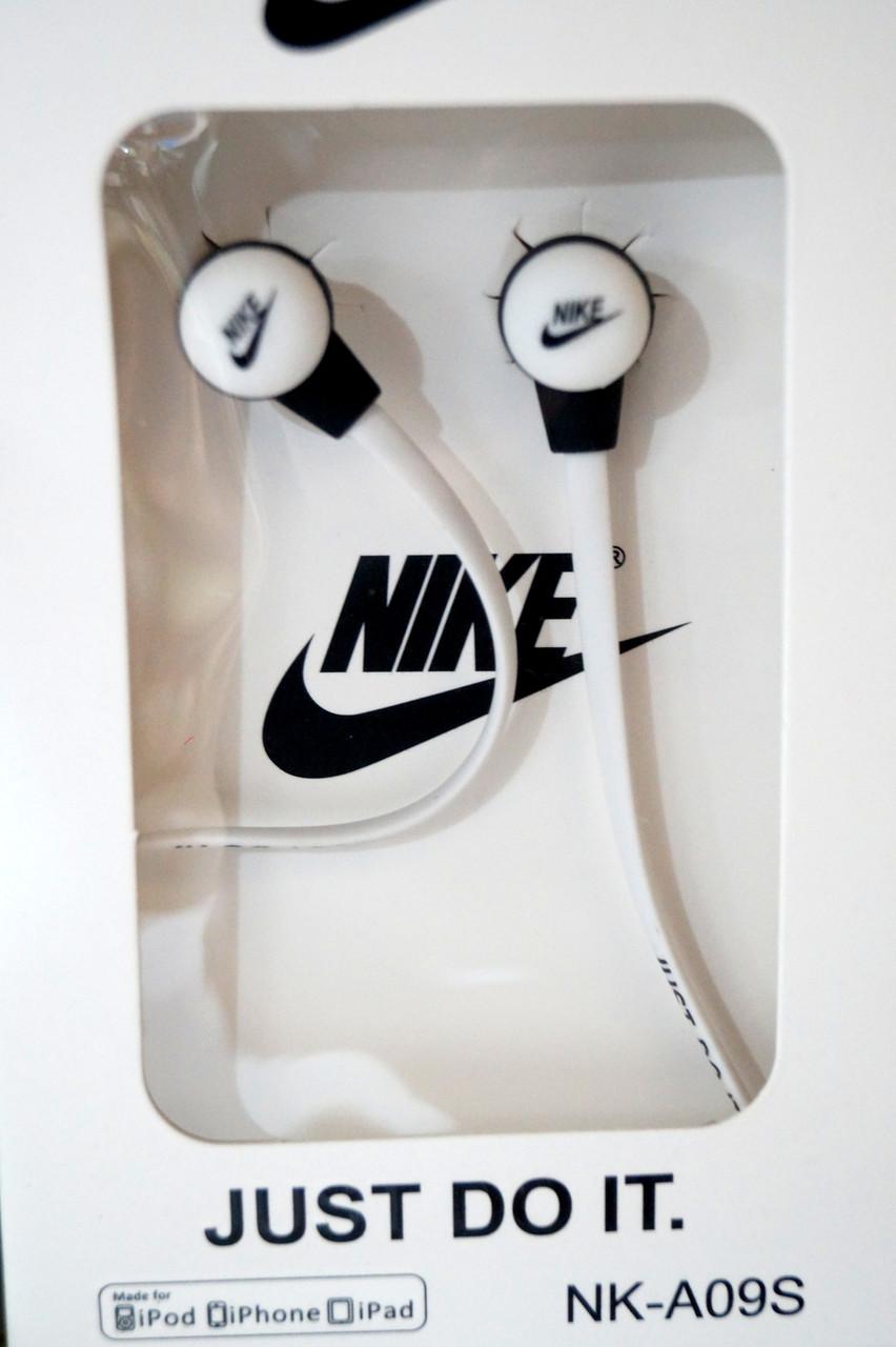 Вакуумні навушники Nike - Just Do It яскраво білі