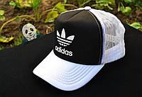 Спортивная кепка Adidas, Адидас, тракер, летняя кепка, унисекс, черного и белого цвета (копия)