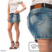 Модель №: W6036 Юбка женская джинсовая с ремнем