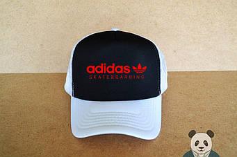 Спортивная кепка Adidas, Адидас, тракер, летняя кепка, унисекс, белого и черного цвета (копия)