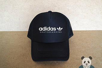 Спортивная кепка Adidas, Адидас, тракер, летняя кепка, унисекс, черного цвета (копия)