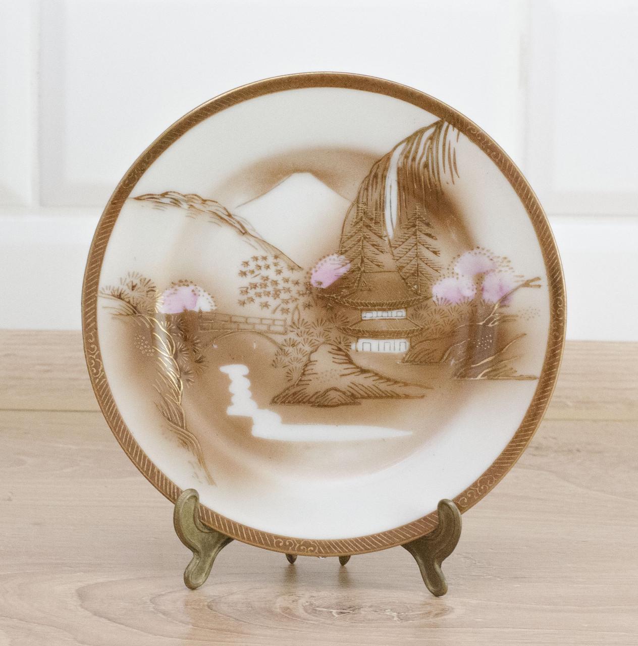 Тарелка коллекционная, фарфор, Япония, 1940 е