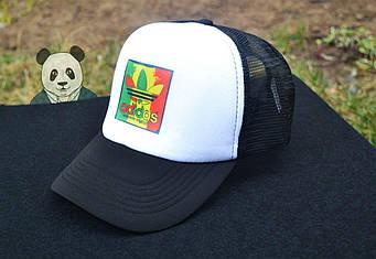 Спортивная кепка Adidas, Адидас, тракер, летняя кепка, черного и белого цвета (копия)