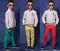 Цветные джинсы для мальчика №824 (р.116-146)