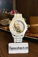 Часы женские Женева на силиконовом ремешке