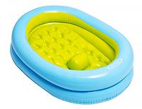 Детский бассейн с надувным дном 48421, овальный, 86*64*23см, 2 кольца, фиксатор на дне