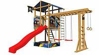 Детская спортивная игровая площадка бук / береза, сосна  SportBaby-14
