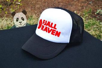 Спортивная кепка Fjallraven, Фьяльравен, тракер, летняя кепка, унисекс, белого и черного цвета,копия