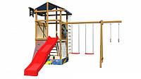 Детская спортивная игровая площадка бук / береза, сосна SportBaby-10