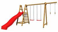 Детская спортивная игровая площадка бук / береза, сосна SportBaby-3