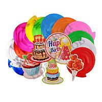 Декор спиральки День рожденья (уп. 12шт), фото 1