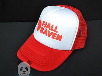 Спортивная кепка Fjallraven, Фьяльравен, тракер, летняя кепка, унисекс,красного и белого цвета,копия
