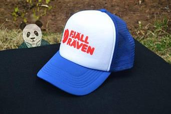 Спортивная кепка Fjallraven, Фьяльравен, тракер, летняя кепка, унисекс, синего и белого цвета,копия