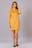 Стильное женское платье большого размера из замша, р. 50,52,54
