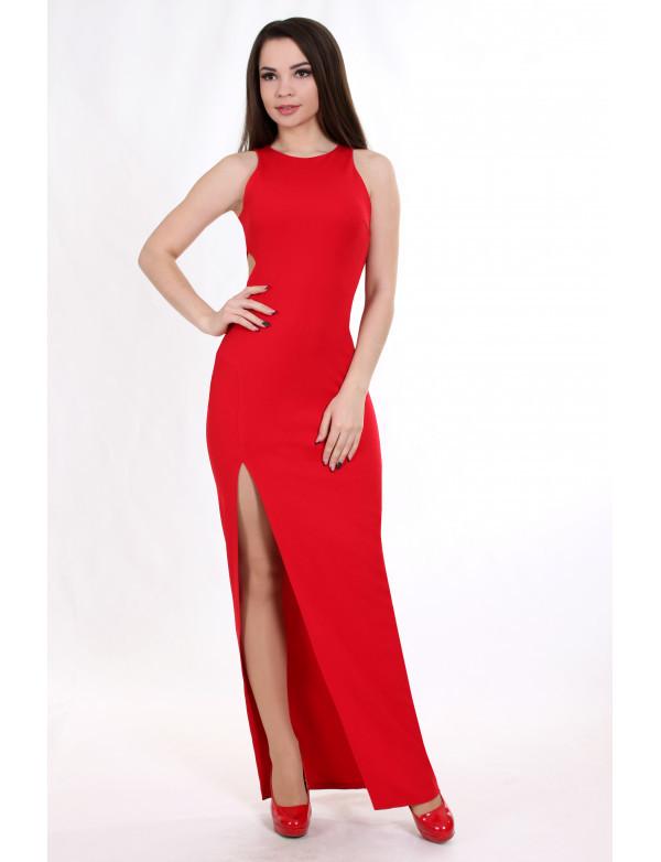 Женское вечернее платье ENIGMA MKENG2037 красное макси в пол