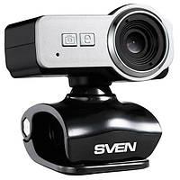 Веб-камера 0.3 Мп з мікрофоном Sven IC-650 Black Silver