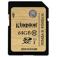 Карта пам'яті SDXC Kingston SDA10/64GB Black