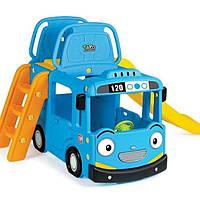 Автобус-горка TAYO (3-в-1), горка, музыкальный руль, ручки для регулировки мелодии и света, Ya-Ya-Toy