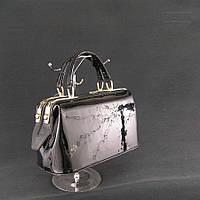 Женская сумка-саквояж маленькая черная