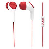 Навушники вакуумні з мікрофоном Koss KEB15i Red