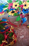 Украинские венки -обручи с цветами без лент M889