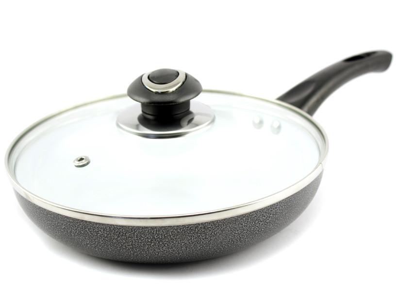 Сковорода с керамическим покрытием D 26 Мрамор