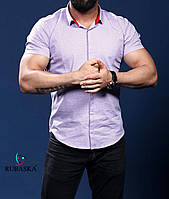 Стильная мужская рубашка на короткий рукав качественная