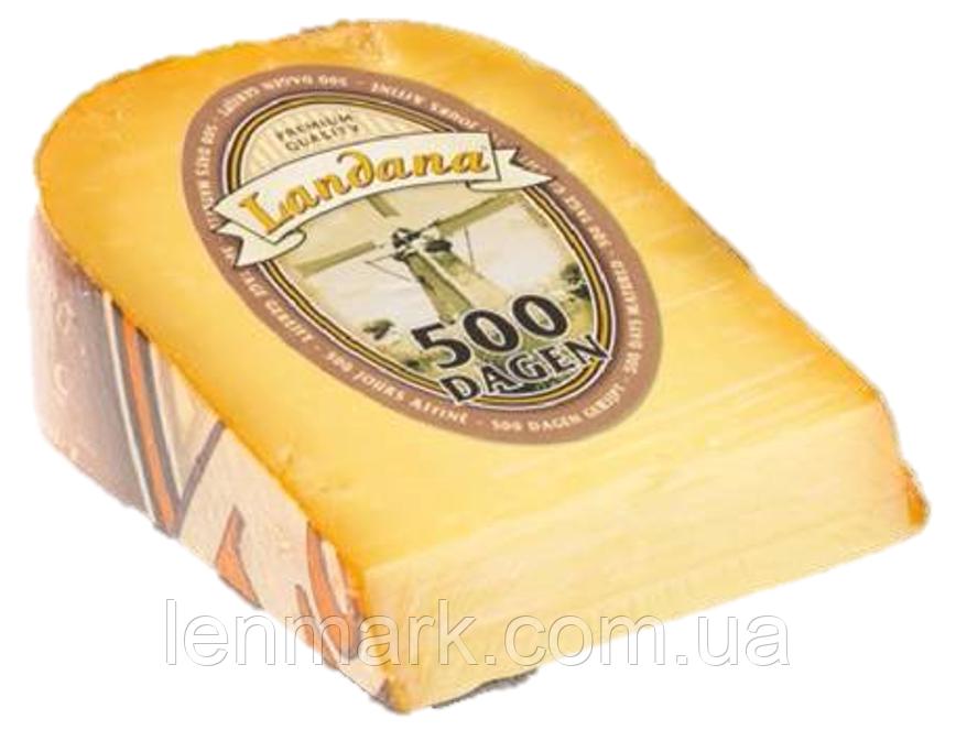 """Сыр кусковой """" 500 дней"""" LANDANA 500 DAGEN , 250 г"""