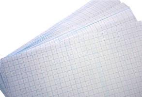 Миллиметровка А4 Коленкор офсетная, голубая
