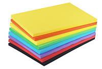 Цветная бумага Коленкор А4/80г неон 250 листов 5цв