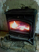 Печь-камин чугунная Kratki Koza K6 (дымоход 130 мм)