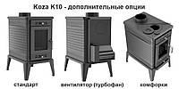 Печь-камин-плита чугунная Kratki Koza K10(дымоход 150 мм)