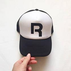 Спортивная кепка Reebok, Рибок, тракер, летняя кепка, мужская, женская,черного и белого цвета, копия